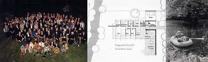 Abschiedsfest 1990, Grundriss, Steffi K. mit Bruder und Hund beim Spielen - 1963