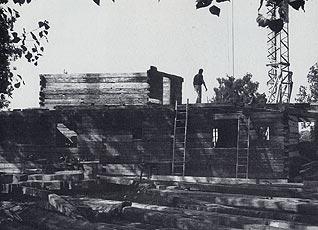 Aufbau des Doimer-Hauses 1983