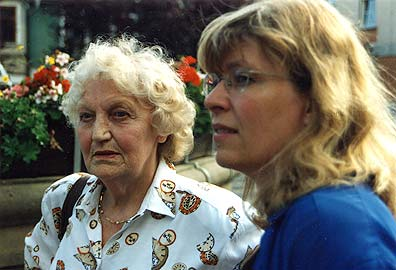 Marianne Lindner mit Steffi Kammermeier